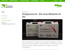 Simplynano.ch Webseite